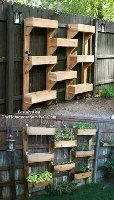 Fence mounted container gardening