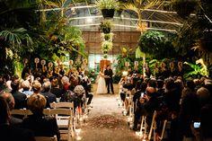 Stunning wedding ceremony at The Horticulture Center at Fairmount Park, Philadelphia, PA, photos by Ash Imagery | junebugweddings.com