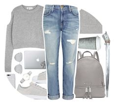 """""""Fall Style """"just gray""""♡"""" by lana-baloley ❤ liked on Polyvore featuring McQ by Alexander McQueen, adidas, Fulton, Michael Kors, Isabel Marant, Fitz & Floyd, Current/Elliott and CLUSE"""