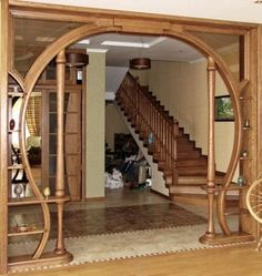The arched design gives the space, elegance and comfort to the room. Living Room Partition Design, Pooja Room Door Design, Room Partition Designs, Ceiling Design Living Room, False Ceiling Design, Home Room Design, Home Interior Design, Living Room Designs, Room Partition Wall