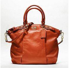 Madison Leather Lindsey Satchel in Terracotta