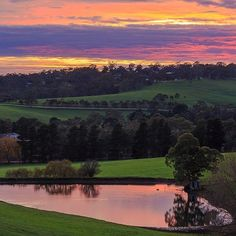 Sunrise captured in the Adelaide Hills in Hahndorf South Australia