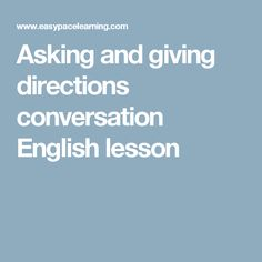 Asking and giving directions conversation English lesson