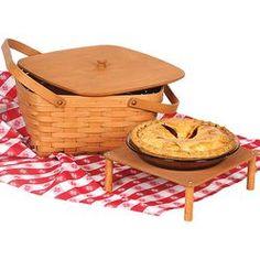 Home Goods|Accessories|Amish Double Pie Basket - Lehmans.com
