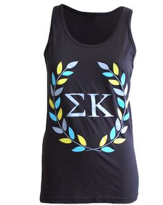 "Sigma Kappa No Matter The Letters Tank Adam Block Design - Use code ""fsuKL1001"" for 10% off your first order and 5% off every order after!"