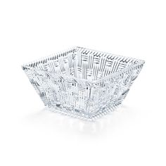 Woven square bowl in crystal. | Tiffany & Co. $30