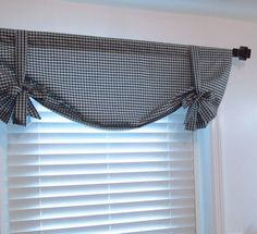 French Country Plaid Top Window Treatment DARK by supplierofdreams