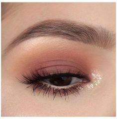 Pink Eye Makeup, Colorful Eye Makeup, Simple Eye Makeup, Smokey Eye Makeup, Cute Makeup, Skin Makeup, Eyeshadow Makeup, Eyeshadow Palette, Makeup Brushes