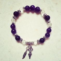 """11 Likes, 6 Comments - Toi Lynn Wyle (@theblissgoddess) on Instagram: """"A healer's mala bracelet - amethyst, onyx and quartz with goddess pendant for remembering her…"""""""