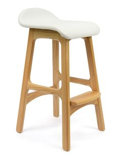 """""""Messina"""" Designer Replica Solid Timber Counter Stool in White – Simply Bar…"""