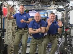 """Major Tim Peake and his fellow astronauts have posted a festive message from the International Space Station to friends and family back home on Earth.  Colonel Tim Kopra commented: """"First off we would like to say how much of a privilege it is to serve on the International Space Station, and how grateful we are to the teams on the ground that support our flying here, as well as all the sciences on board this laboratory."""""""