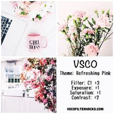 Refreshing Pink Instagram Feed Using VSCO Filter C1