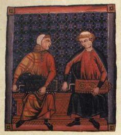 Illumination from the Cantigas de Santa Maria Manuscripts (Mid Thirteenth Century)