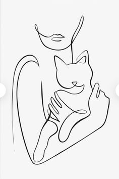 Mini Tattoos, Cute Tattoos, Line Drawing, Painting & Drawing, Art Sketches, Art Drawings, Frida Art, Cat Tattoo Designs, Outline Art
