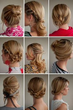 These hair styles are all done by a girl named Christina by Hair Romance.Go to her website Hair Romance & u can watch all her tutorials on how to get all these awesome hair styles. My Hairstyle, Pretty Hairstyles, Hairstyle Ideas, Wedding Hairstyles, Braided Hairstyles, Short Hairstyles, Hairstyle Tutorials, Simple Hairstyles, Romantic Hairstyles
