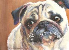 Pug Dog Watercolor Fine Art Print 8x10 by AquilaWatercolor on Etsy, $20.00