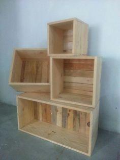 cajas de madera cajas de fruta mobiliario para escaparates