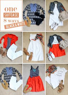 in residence: mix & match suitcase, black & white edition - Capsule Wardrobe - Travel Tips - Packing