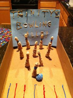 A bowling alley out of rubber bands.
