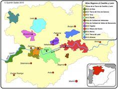 Wine map Castilla y Léon
