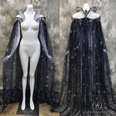 Fantasy Starry Collar Cloak ~ Wicca Cape Witch Outfit Celestial Bridal Elven Gothic Pagan Medieval Dress Cape ~ Venice Carnival Ball Costume – The Best Ideas