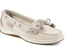 Sperry Top-Sider Angelfish Cotton Mesh Slip-On Boat Shoe - shown in Ivory - $88