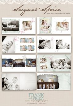 10x10 Album Template - Sugar & Spice Press Printed Album. $40.00, via Etsy.