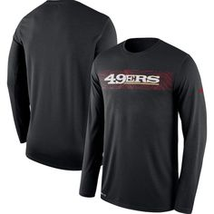 d800e016a San Francisco 49ers Nike Sideline Seismic Legend Long Sleeve T-Shirt – Black