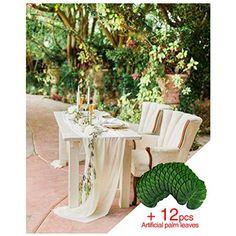 Home Ocamo Table Runner Natural Hessian Burlap Lace Table Decor Flag for Christmas Wedding Dinner Parties Events Decor 275 x 30cm
