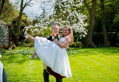 One of our Beautiful VOH Brides in her White Lace Halter Neck circle dress complete with petticoats!