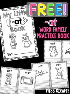Free short a word family book to practice at words with cute pictures and primary writing lines to make it easy and fun for kids who are just learning how to read!