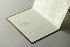 A richly elegant letterpress & foil stamp invitation