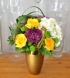 Modern Vase Arrangement for the home or office.