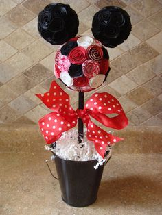 Mickey or Minnie Mouse Topiary for Birthday Party by CreativeGoodz, $24.00