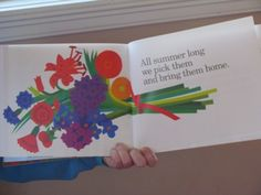 """Planting a Rainbow"" by Lois Ehlert. We painted our own bouquet!"