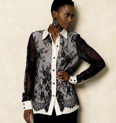 Vogue - 8927 patroon blouse | Naaipatronen.nl | zelfmaakmode patroon online