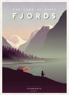 The Land of Misty Fjords, by Hobo and Sailor  Pinning for the fjords! !!!