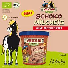 """""""YAKARI Bio Schoko Milcheis von Helador * GLUTENFREI *"""""""