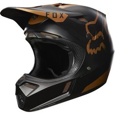 Fox 2017 LE V3 Moth Black/Copper Helmet