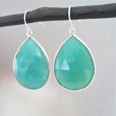 Image of Chrysoprase Quartz Sterling Silver Earrings