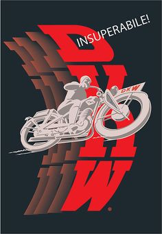 DKW Motorcycle Poster
