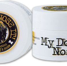 Cute dog sun block brand my dog nose it! Protect your doggy's sensitive nose.