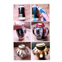 Moda Fai-da-te, Lanterne reciclando lattine di Birra   Mondo Gossip