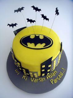 """""""Batman"""" Kara Şövalye Temalı Butik Doğumgünü Pastası.! Batman Birthday Cake.!"""