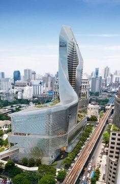 Bangkok Central Embassy, Bangkok, Thailand I designed by Amanda Levete Architects
