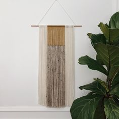 a delicate yarn hanging for any room in your home Size dimensions Stick width 18in Yarn with 12.5in Yarn length 26-27in Note: Item is rolled tightly to refrain from tangling while shipping, tapestry ends may curl up a little bit.