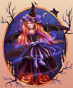 halloween illustration by kinoraya