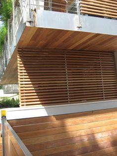 listoni legno per esterno Pathways, Cladding, Teak, Facade, Blinds, Concrete, Branding Design, Home Appliances, Backyard