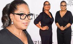 Oprah Winfrey parades her diet success in slimming jumpsuit at Tribeca