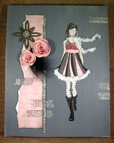 Fashion Girl Collage Canvas by AVintageMouse on Etsy, $35.00